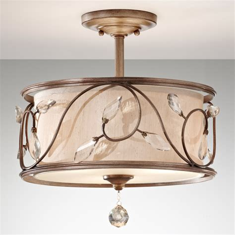 Country Style Crystal Ceiling Lights 3 Lights E26 E27 Country Style Ceiling Lights
