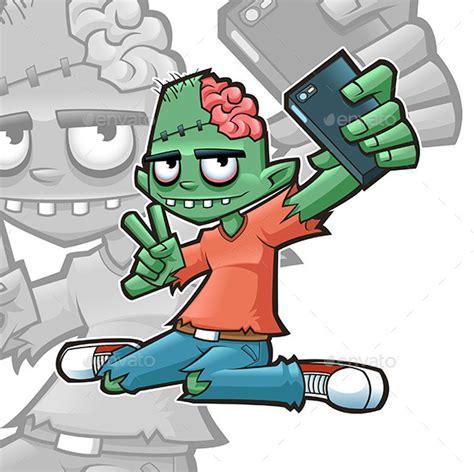 tattoo kartun zombie selfie zombie by blankids graphicriver