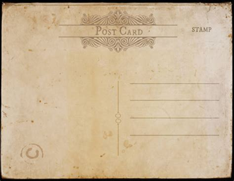 great paper post cards template vintage postcard templates