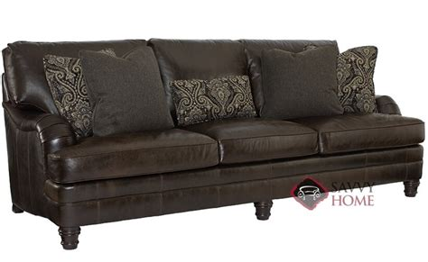 tarleton by bernhardt leather sofa by bernhardt is fully