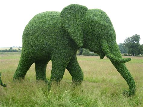 brangelina elephants and gardening what more could we want - Elephant Topiary