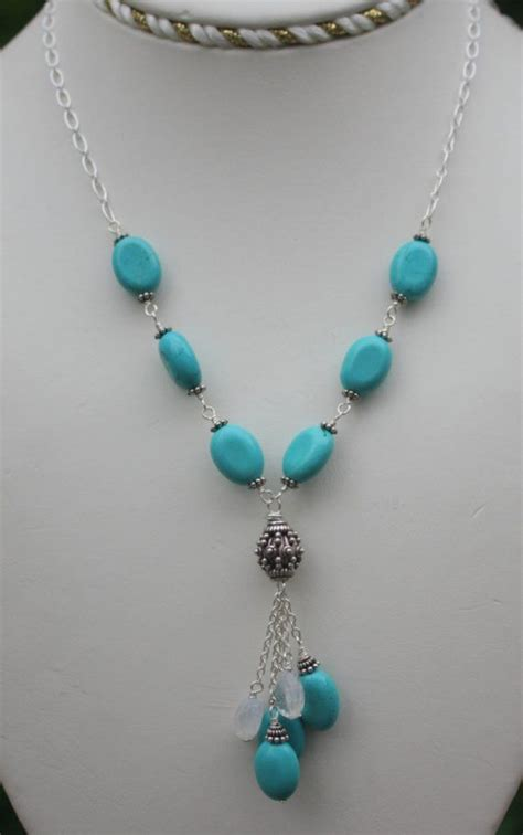 Kalung Rainbow Necklace turquoise necklace handmade gemstone necklace sterling