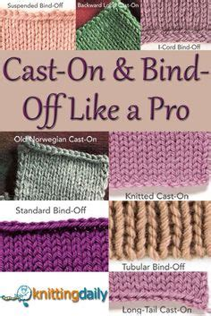 what does bind in knitting how to bind knitting tutorials for 4 different bind
