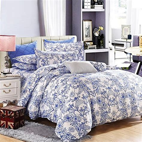 blue patterned bedspread vaulia lightweight microfiber duvet cover set blue floral