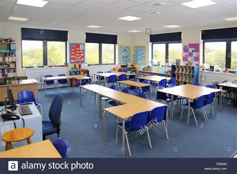 primary classroom layout uk a classroom in a newly built uk junior school shows desks