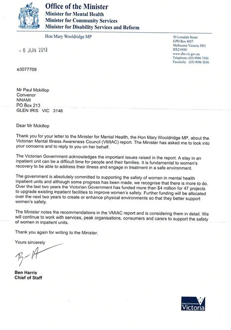 Official Letter Best Regards Letters To The Australian Government 2013