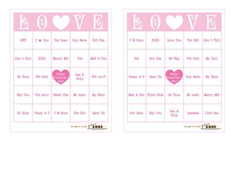 Conversation Hearts Bingo Cards Template by Conversation B I N G O Free Bingo