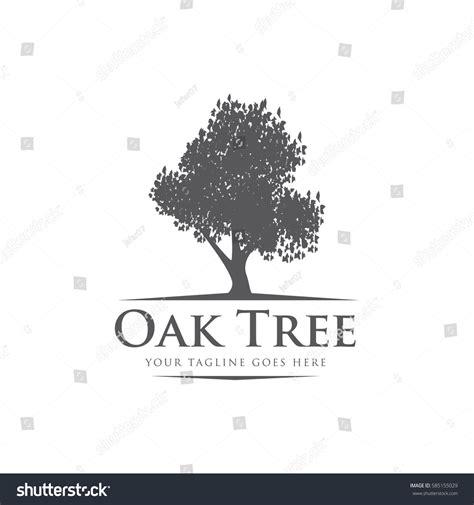 oak tree template oak tree concept logo icon vector stock vector 585155029