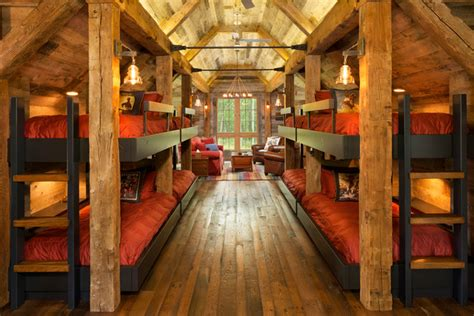 Log Cabin Bedroom Decorating Ideas northern wisconsin bunk house rustic bedroom