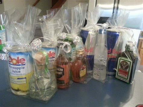 adult christmas goodie bags ideas favors liquor and chasers guests will them ideas