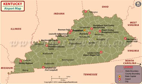 kentucky map airports image gallery tennessee airports