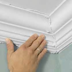 how to install crown molding on top of kitchen cabinets how to install easy crown molding the two mom and house