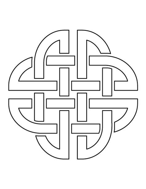 printable celtic knot template