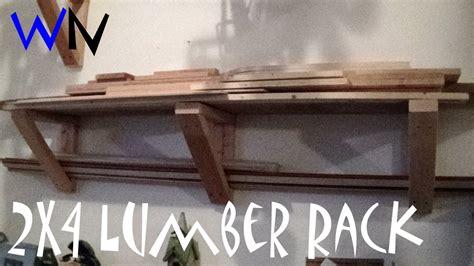 build  simple  lumber rack highly customizable