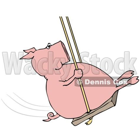 pig on a swing clipart illustration of a playful pig swinging 169 dennis