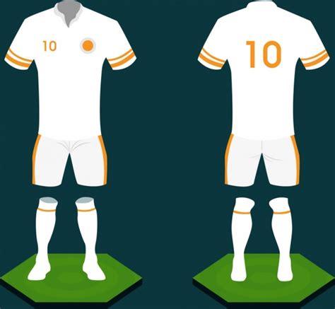 design jersey corel soccer uniform design white design 3d sketch style free