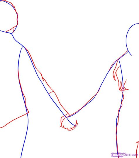 visitor pattern step by step step 2 how to draw people holding hands