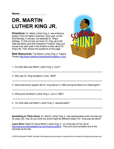 martin luther king jr worksheets for elementary students free martin luther king jr worksheets for elementary
