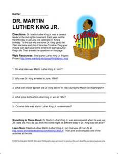 education world internet scavenger hunt dr martin