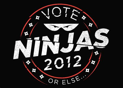 typography t shirt design inspiration vote ninjas by aj paglia threadless
