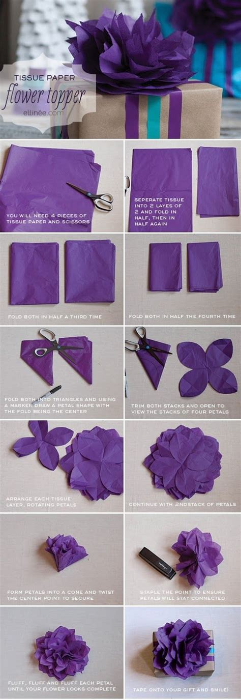 paper flower diy tutorial diy tissue paper flower tutorial diy flowers pinterest