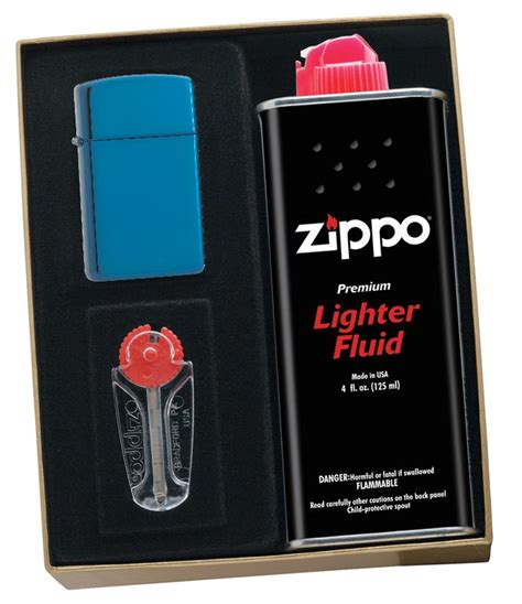 Zippo Slim Sapphire 20494 zippo sapphire slim lighter gift kit ships by ground only