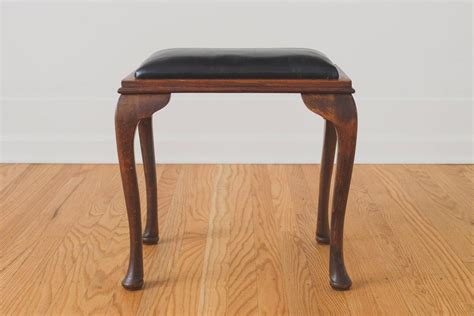 Vanity Stool Black by Black Leather Vanity Stool Homestead Seattle