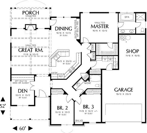amazing single story house plans for home d 233 cor