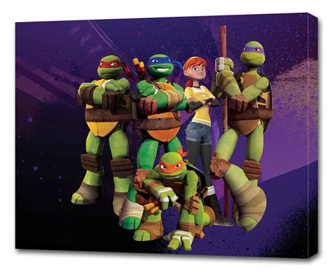 tmnt turtles canvas print wall decor giclee