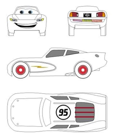 car template for cake lightning mcqueen pinewood stickers cars pinewood