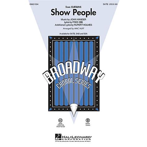 show people curtains hal leonard show people from curtains sab arranged by