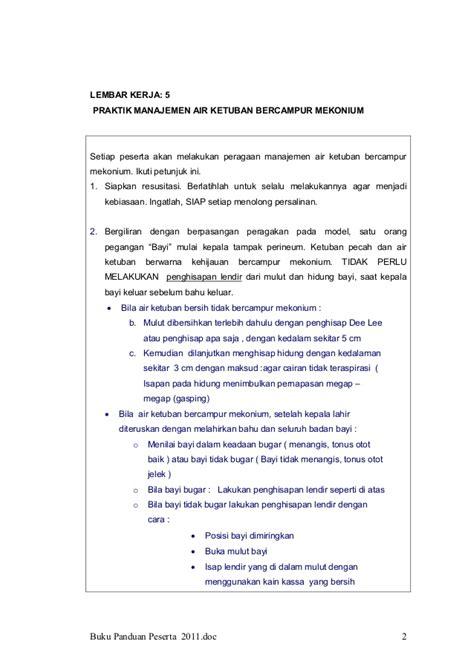 Buku Panduan Pencegahan Infeksi panduan manajemen bblr untuk bidan desa