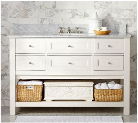pottery barn vanity table how to repurpose a sideboard into a sink vanity in my