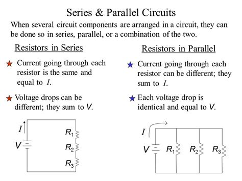 voltage drop across each resistor circuits current resistance ohm s ppt