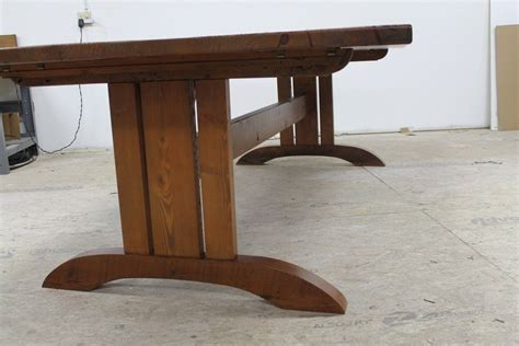 Hand Made Mission Style Trestle Base For Dining Table By Trestle Style Dining Table