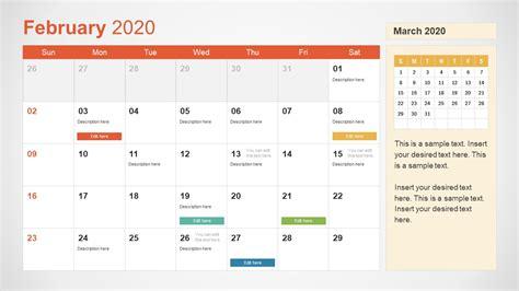 calendar powerpoint february slidemodel