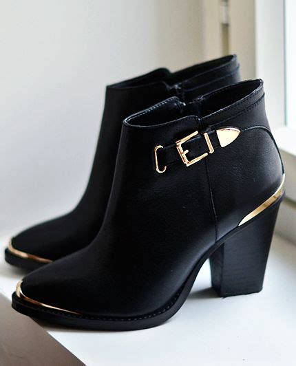 black and gold leather boots from steve madden shoes and