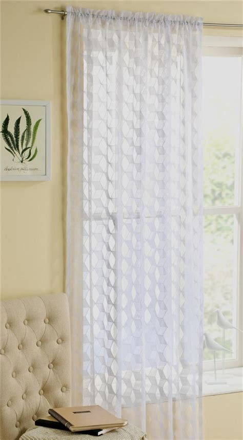 modern vintage curtains fairmont modern retro lace curtain panel not voile