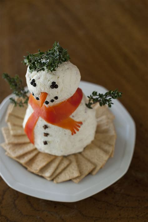 cute christmas appetizers for parties cheeseball snowman recipe and baby corban s wishlist