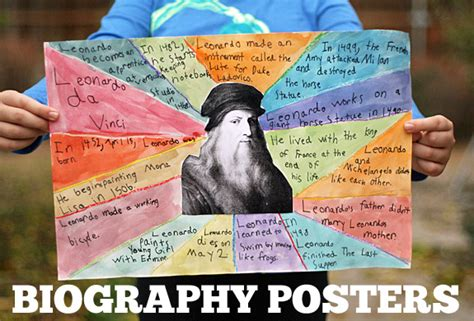 biography exle middle school creative book reports biography posters let s explore