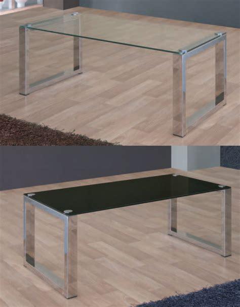 mia home mesa de centro roma cristal mesa de centro cristal y acero