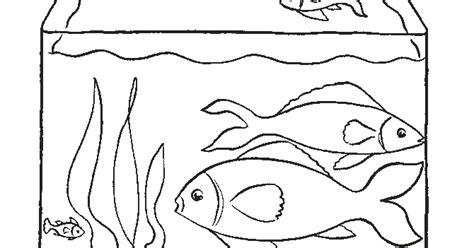 gambar mewarnai akuarium untuk anak anak contoh anak paud