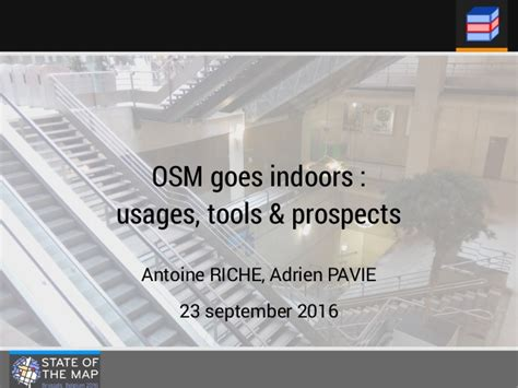 osm pavia osm goes indoors usages tools and prospects