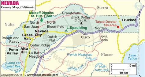 map of nevada county ca thisweekincaliforniahistory