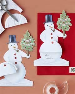 martha stewart cards templates snowman card how to martha stewart