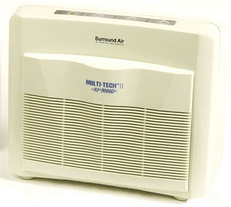 surround air multi tech ii xj 3000d air purifier with hepa carbon pre filter and germicidal uv