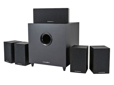 premium 5 1 ch home theater system with subwoofer open