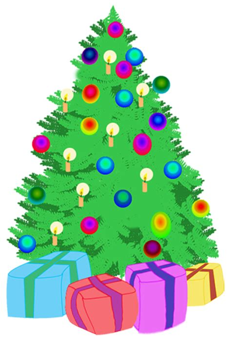 christmas tree candles clipart clipground