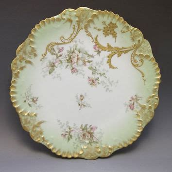 antique limoges ls s cabinet plate from