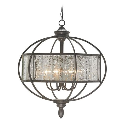 The Chandelier And Mirror Company Currey And Company Lighting Florence Bronze Gold Antique Mirror Chandelier 9330